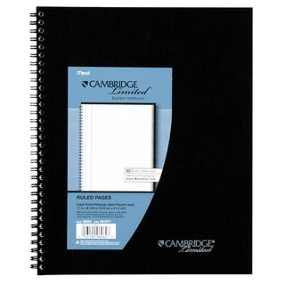 "MeadWestvaco 06062 11"" X 8-1/2"" Black Legal Ruled Cambridge Limited Notebook"