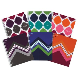 """MeadWestvaco 06348 11"""" X 8.5"""" College Ruled Notebook Assorted Colors"""