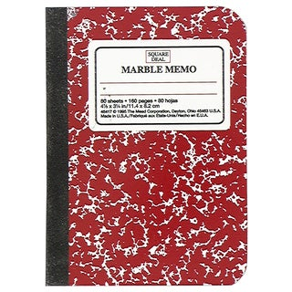MeadWestvaco 45417 5-1/2 X 4 Narrow Rule Composition Notebook Assorted Colors
