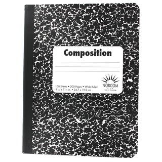 Norcom Black Wide Ruled Composition Notebook