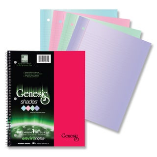 "Roaring Spring Paper Company 12231 9"" X 11"" Genesis Shades Wirebound Notebook Assorted Colors"