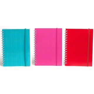 "Carolina Pad 10564 8.25"" X 5.625"" Poly Cover Journal Assorted Colors"