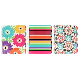 "Carolina Pad 37067 11"" X 9.75"" 5-Subject Sugarland Notebook Assorted Styles"