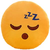 BH Toys Emoji Expression ZZZ Sleeping Face Yellow Cotton Plush Pillow