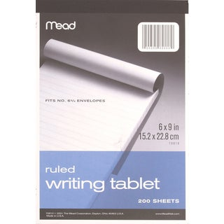"""MeadWestvaco 70610 6"""" X 9"""" Wide Ruled Writing Tablet"""