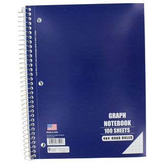 "Norcom 77105-12 10.5"" x 8"" Quad Ruled Notebook Assorted Colors"
