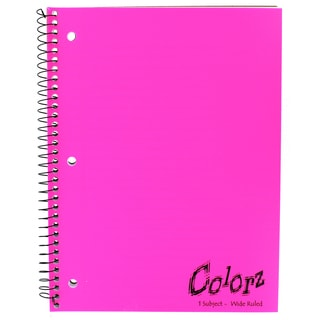 "Norcom 77384-12 10.5"" X 8"" 1 Subject Notebook Assorted Colors"