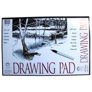 "Norcom 78932-9 18"" X 12"" Drawing Pad"