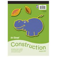 """Pacon 104612 9"""" X 12"""" Construction Paper Pad Assorted Colors 48 Count"""