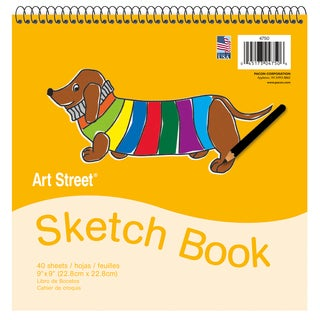 "Pacon 4750 9"" X 9"" Padded Sketch Book 40 Sheets"