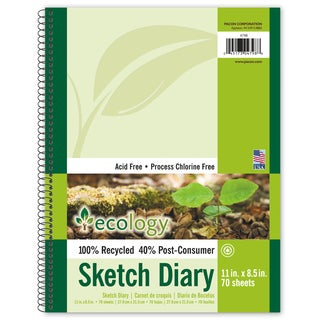 "Pacon 4798 11"" X 8-1/2"" Ecology Sketch Diary 70 Sheets"