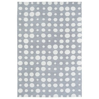 Littles Gey & Ivory Dots Microfiber Rug (8'0 x 10'0)