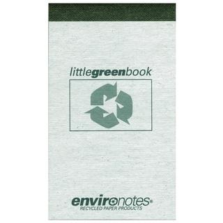 "Roaring Spring Paper Company 77355 3"" X 5"" 60 Sheet Little Green Book"