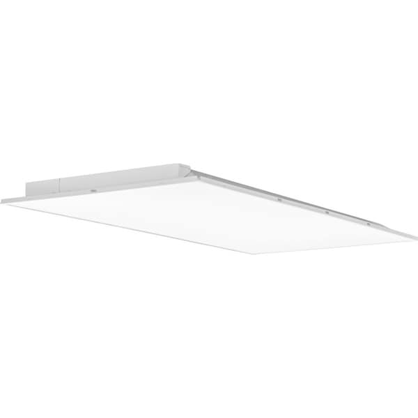 Lithonia Lighting White Metal 2 x 4 Fully Luminous LED Lay-in Troffer with Smooth White Lens