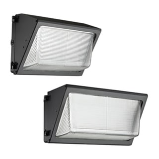 Lithonia Lighting Black Aluminum/Glass Wall Pack