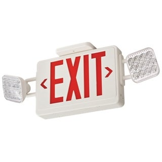 Lithonia Lighting Contractor Select Thermoplastic LED Emergency Exit Sign and Light