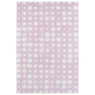 Littles Pink & Ivory Dots Microfiber Rug (4'0 x 6'0) - 4' x 6'