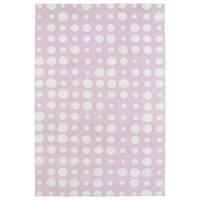 Littles Pink & Ivory Dots Microfiber Rug - 8' x 10'
