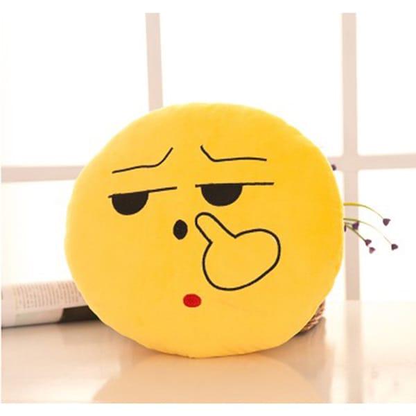 BH Toys Expression Picking Nose Face Emoji Mini Plush Pillow