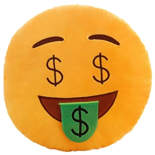 BH Toys Emoji Series Money Face Plush Pillow
