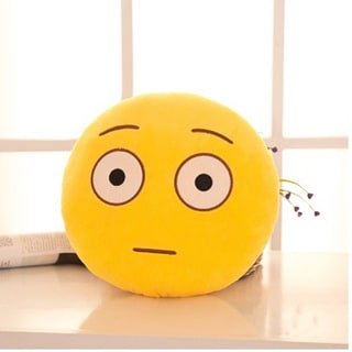 BH Toys Expression Dazed-face Emoji Mini Plush Pillow