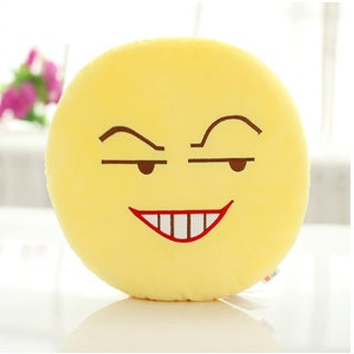 BH Toys Grin Face QQ Series Emoticon Yellow Cotton Pillow
