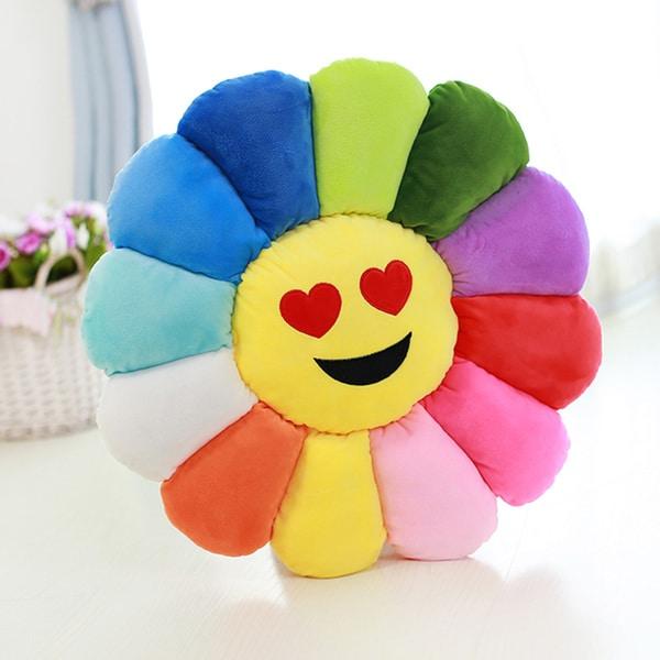 BH Toys Emoji Flower Power Heart Eyes Plush Expression Pillow