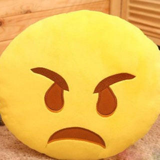 Yellow Cotton Emoji Mini Expression Rage-face Plush