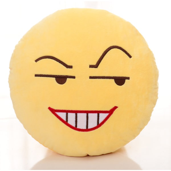 BH Toys Insidious Face Emoji Yellow Cotton 13-inch Plush Expression Pillow