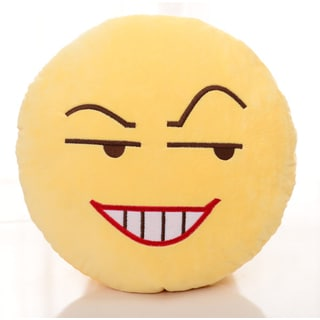BH Toys Insidious Face Emoji Yellow Cotton 13-inch Plush Expression Pillow