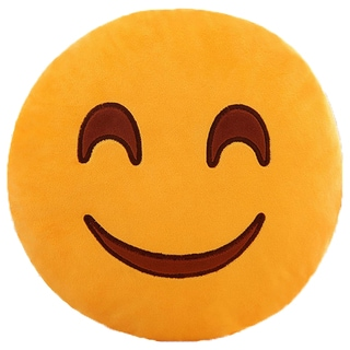 BH Toys Sweet Smile Face Yellow Cotton Emoji Plush Pillow