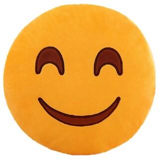 BH Toys Sweet Smile Face Yellow Cotton Emoji Plush Pillow