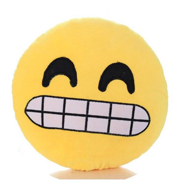 Expression Growl Face Emoji Mini Pillow