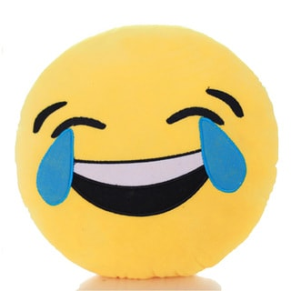 Expression Tears of Joy Emoji Mini Plush Pillow
