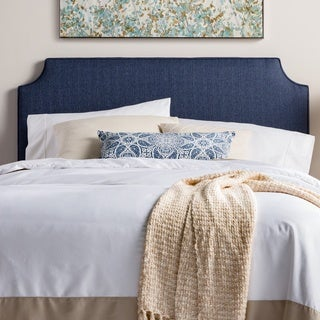 Humble + Haute Raleigh Queen Size Navy Upholstered Headboard