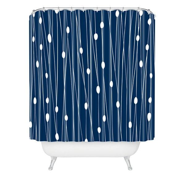 Heather Dutton Navy Entangled Shower Curtain