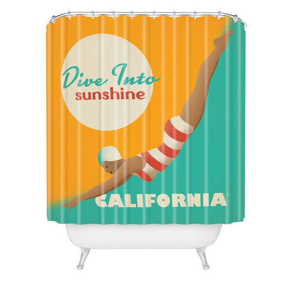 Anderson Design Group Dive California Shower Curtain
