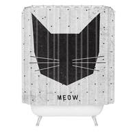 Wesley Bird Meow Shower Curtain