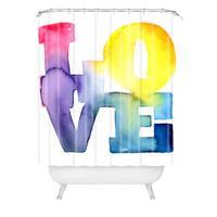 Cmykaren Love 4 Shower Curtain