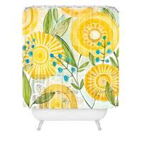 Cori Dantini Sun Burst Flowers Shower Curtain