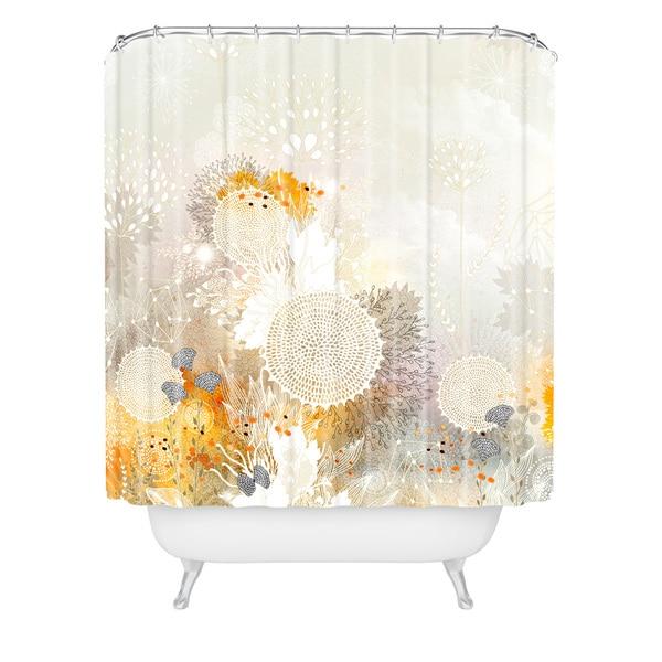 Iveta Abolina White Velvet Shower Curtain - White Velvet