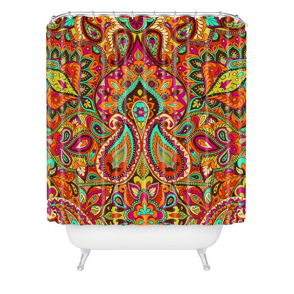 Aimee St Hill Paisley Orange Shower Curtain
