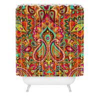 Aimee St Hill Paisley Orange Shower Curtain