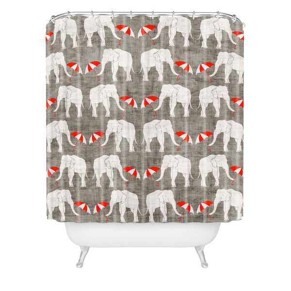 Holli Zollinger Elephant And Umbrella Shower Curtain