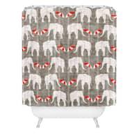 Holli Zollinger Elephant And Umbrella Shower Curtain