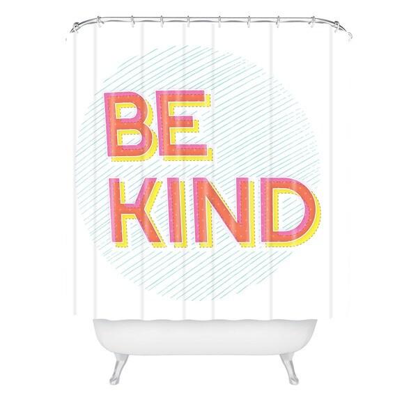 Gabi Be Kind Shower Curtain