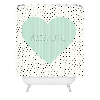 Allyson Johnson Hello Beautiful Heart Shower Curtain