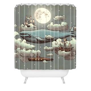 Terry Fan Ocean Meets Sky Shower Curtain