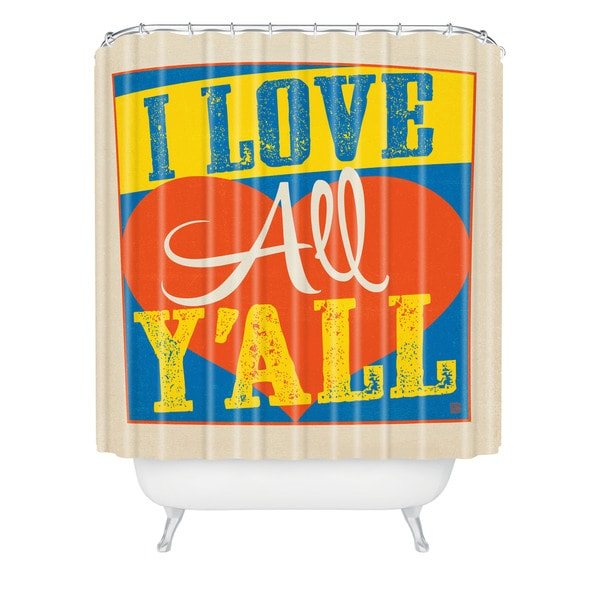 Anderson Design Group I Love All Yall Shower Curtain - Multi