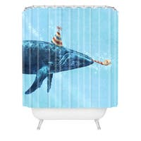 Terry Fan Party Whale Shower Curtain